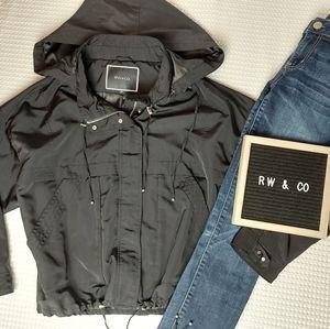 RW&Co Hooded Pull Cord Zip Jacket Size Medium